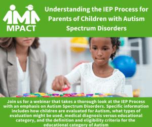 Understanding the IEP for Autism Spectrum Disorder @ Webinar