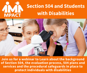 Section 504 and Students with Disabilities @ Webinar