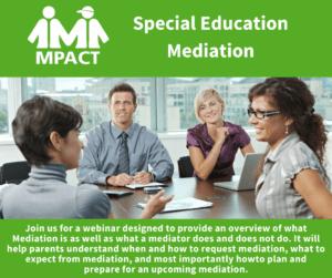 Special Education Mediation @ Webinar