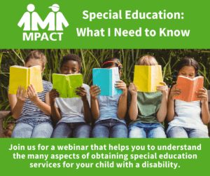 Special Education: What I Need to Know @ Webinar