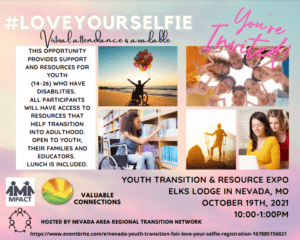 Love Your Selfie Youth Transition & Resource Expo @ Elks Lodge
